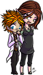 Spencer x Konnie Chibis by KikiLime