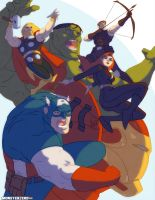 EARTH'S MIGHTIEST HEROES by HughFreeman