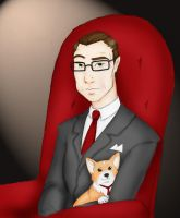 Charles Holding a Puppy by SparklinBurgndy