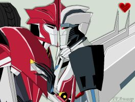 Knockout X Starscream by Clindra
