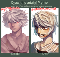 Before and after meme for the third time xD by P-cate