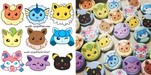 Eeveelution Buttons by annetti-spaghetti