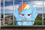You Look Delicioussss - Giant Rainbow Dash in NYC by FlutterbatIsMagic