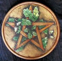 Oak pentacle by oshuna