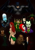 Batman and His Rogues by alexhdunn