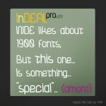 InDEAL regular by adventfont