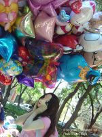 Satomi with balloons by Gabycat