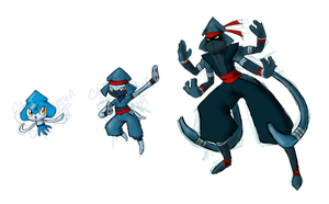 PKMN - Water Starters by Grudge-Glamorous