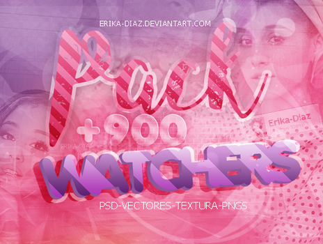 \\PACK +900WATCHERS GRACIAS LOS AMO by Erika-Diaz