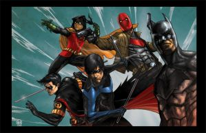 Gotham Knights colored by Rita Moore by Ace-Continuado