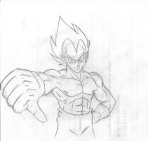 Vegeta sketch by Camron23