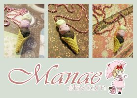 Neapolitan Ice-Cream Necklace by tahliadenae