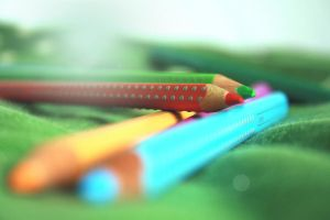 Spring pencils by Gia9