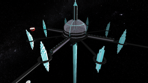 starmade: Crystal line Pirates headquarters. by lordkalem