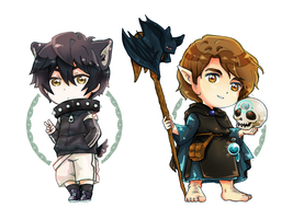 Chibi Set 1 .:Commission:. by GYRHS