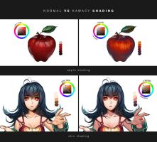 Normal vs my shading by kawacy