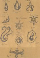 Elemental Markings/Symbols/Things by Etheral-Fox