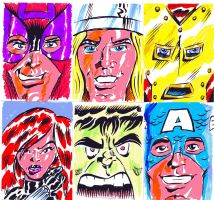 The Avengers Sketch Cards by Peterlc
