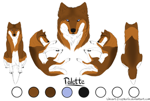 Paypal Commision- Wolf 4- Red by LadyLirriea