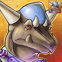 Icon Commission - Rampardos by Zalcoti