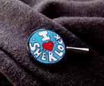 I heart Sherlock pin by Hedgehogscanfly