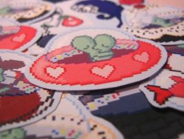 Soucoupes stickers by AnneKo