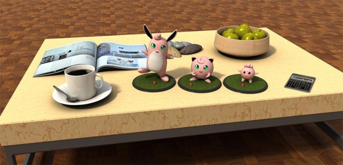 Pokemon on table by Deejayqt