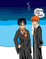 ron and harry by Fred-Weasley