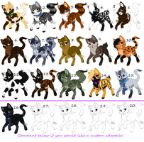 Free Cat Adoptables!!!!!! 2  -Closed- by KibaHunt