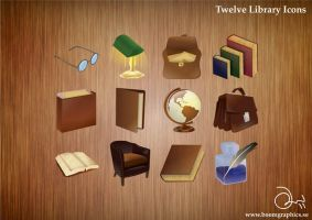 Library Icons by robinweatherall