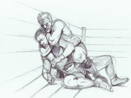 rear naked choke by mollygrue