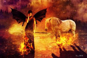 The lady of hell and fire horse by Julianez