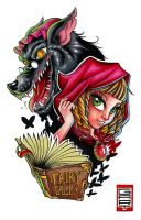Fairy Tales Little red riding hood by AbrahamGart