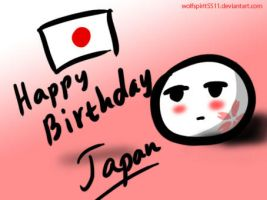 Happy Birthday Japan by wolfspirit5511
