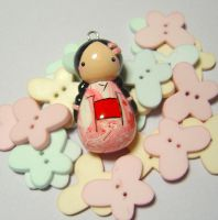 Pink Kokeshi Doll by janeybaby