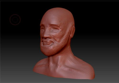 Character Face Zbrush by TomLoux