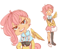 Human Flutters by Burgerlicious