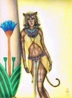 Bastet, Cat Goddess by MyWorld1