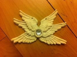 Seraph wings necklace - fimo by LiselleAngelique