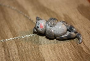 Tabby cat necklace by Aluciel286
