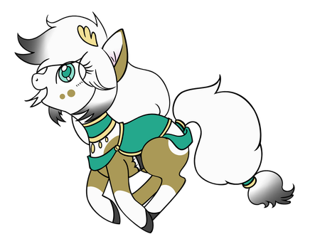 Digitally Coloured - Chibi Pony Artemis by heroes-of-thedas