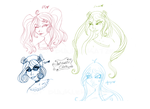 Amistadix Club Members Quick Sketch by Dunkle-Katze