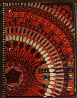 Blackumbral Red Notebook by BlackUmbral