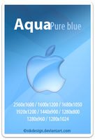 Aqua pure blue by stkdesign