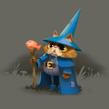 Cat Wizard by bearmantooth