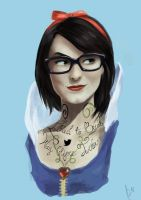 Hipster Snow White by peteropanda