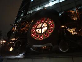 NI-TELE Really BIG clock in Shidome Tokyo by midnightpb