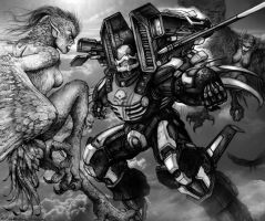 RIFTS CS SAMAS vs Harpies by ChuckWalton