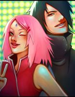 .:Sasuke 'n' Sakura:. by BlissfulGold