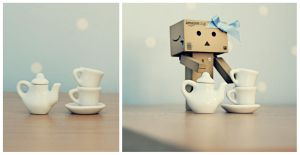 Danbo tea party by BeciAnne